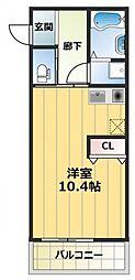 リヴェールU[2階]の間取り