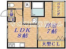 カツミマンション[2階]の間取り