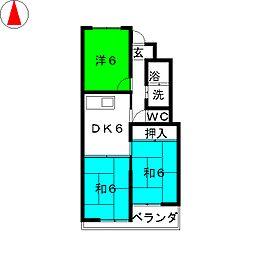 第2中野コーポラス[3階]の間取り