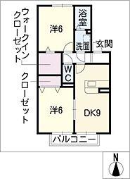 プレミアム タウン B棟[2階]の間取り