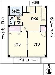 メゾンパール[2階]の間取り
