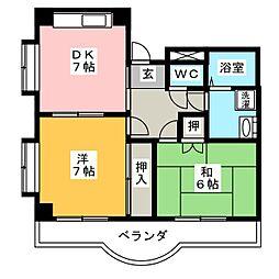 パラサンピア I[3階]の間取り