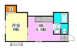 メゾンピュア[2階]の間取り