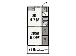 橋本第二綜合ビル[503号室]の間取り