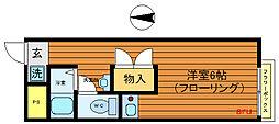 東京都武蔵野市中町3の賃貸アパートの間取り