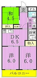 松戸レジデンス[303号室]の間取り