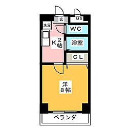 パル松ヶ枝[6階]の間取り
