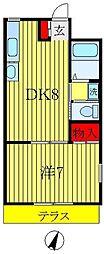 千多慶マンション[105号室]の間取り