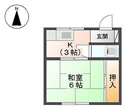 土筆荘[2階]の間取り