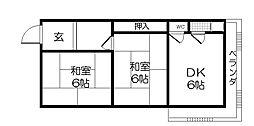 第一西本マンション[3階]の間取り