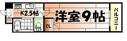 ウインズ浅香II[4階]の間取り