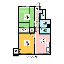 シャンポール花の木[2階]の間取り