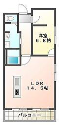 兵庫県神戸市垂水区向陽2の賃貸マンションの間取り