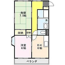 埼玉県さいたま市北区土呂町1丁目の賃貸マンションの間取り