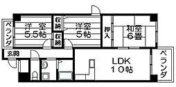 ラピュタクモン 横枕西 荒本8分[8階]の間取り