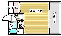 ウエステージ夕陽ヶ丘[8階]の間取り