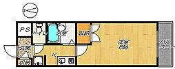 ハイツカワイ[4A号室]の間取り
