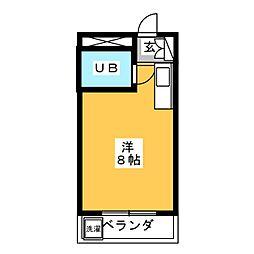 サンパークマンション高宮[4階]の間取り