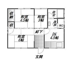 [一戸建] 徳島県徳島市北田宮3丁目 の賃貸【/】の間取り