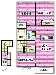 パーク・ボヌールC[2階]の間取り