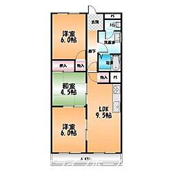 シティAZUMA[3階]の間取り