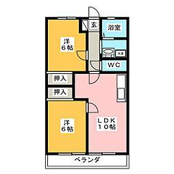 ミューズクリオ1[1階]の間取り