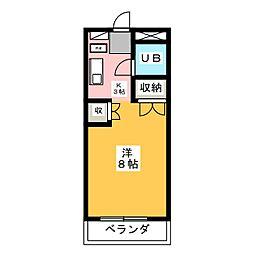 コーポコバヤシ[1階]の間取り