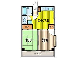 ドミール白幡[3F号室]の間取り