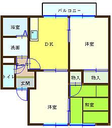 和歌山県海南市鳥居の賃貸アパートの間取り