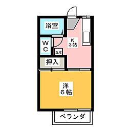 フォーブル加藤[2階]の間取り