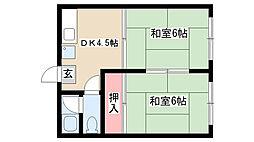 愛知県名古屋市南区道徳通2丁目の賃貸マンションの間取り