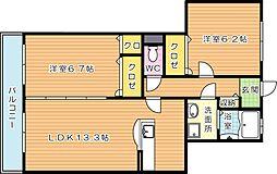 メルベーユ[1階]の間取り