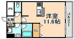 兵庫県伊丹市平松1丁目の賃貸マンションの間取り