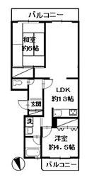 大倉山マリンコート[203号室]の間取り