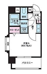 福岡県福岡市中央区大手門3丁目の賃貸マンションの間取り