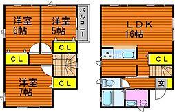 [一戸建] 岡山県倉敷市連島中央4丁目 の賃貸【/】の間取り