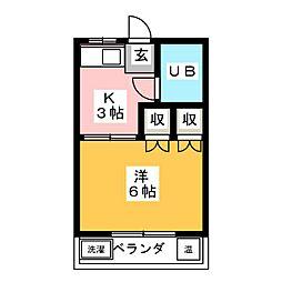 第3ラインビル[3階]の間取り