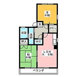 カーディナルヒル[1階]の間取り