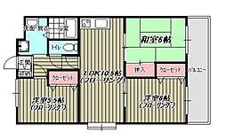 高倉第3ビル[203号室]の間取り