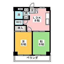 メゾン柏井[3階]の間取り