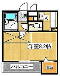 ビ・サイドII[202号室号室]の間取り