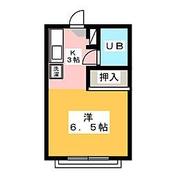 タウン唐山 B棟[1階]の間取り