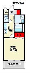 MDIミルファルコ下曽根駅前[4階]の間取り