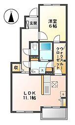 アロッジオMI[1階]の間取り