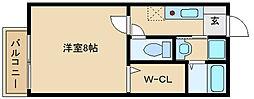ミラーハイツIII[1階]の間取り