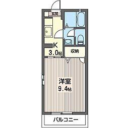ラフォーレ・セレノ B[2階]の間取り