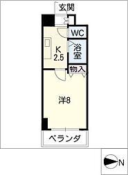 クレストステージアスカ[8階]の間取り