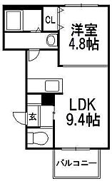 パークウエストA[3階]の間取り