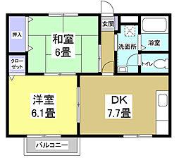 プラトIII[1階]の間取り