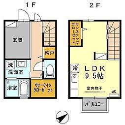 エスペランサABC棟[A103号室]の間取り